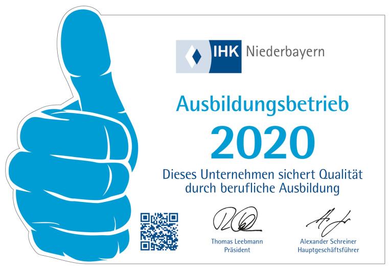 IHK Niederbayern Ausbildungsbetrieb 2017